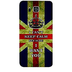 Skin4gadgets I CAN'T KEEP CALM BECAUSE I WANT YOU - Colour - Uk flag Phone Skin for SAMSUNG GALAXY ALPHA (G850)