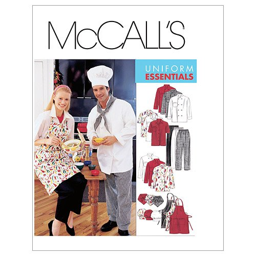 McCall's Patterns M2233 Misses' and Men's Jacket, Shirt, Apron, Pull-On Pants, Neckerchief and Hat, Size MED (Mccalls Chinese Sewing Pattern compare prices)