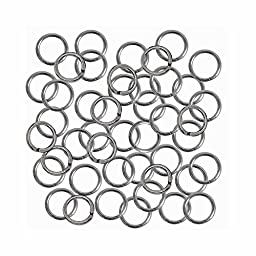 Rockin Beads 24 grams Opened Stainless Steel Jump Rings 17 Guage 6mm OD Round 3.6mm ID 170 pices