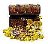 海賊 宝箱 セット 鍵付 MK-2 ゴールド & シルバー コイン のセット KOZIMA Original package