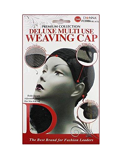 Donna's Premium Adjustable Multi Use Weaving Cap (Black) (Adjustable Wig Cap compare prices)