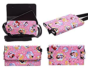 Colorkart Printed Mobile Pouch Handbag With Adjustable Strip For Reliance Jio Lyf Wind 1 Mobile Phone (Pink)