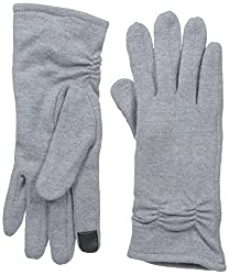 Gloves International Women's Wool Blend Gloves with Cinch, Grey, X-Large