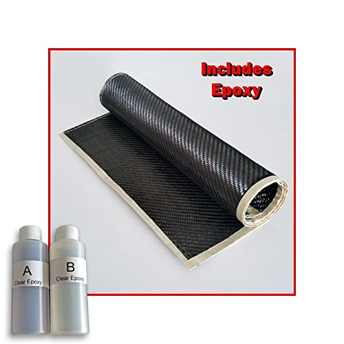 Real Carbon Fiber Epoxy Resin Kit - 2x2 Twill 36