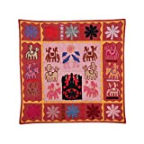 Rajrang Home Décor Embroidered Patch Work Coral Pink Wall Hanging - B00TQRL12O