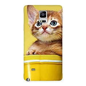 Ajay Enterprises Div Kitty Bucket Back Case Cover for Galaxy Note 4