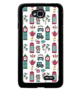Fuson Premium Taxi Tower Metal Printed with Hard Plastic Back Case Cover for LG L70