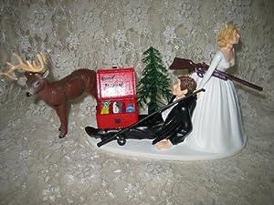 Amazon.com: Humorous Redneck Wedding deer Hunter Hunting fishing Cake