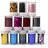 12 Rolls Mix colors Nail Art Transfer Foil Set Nail Tip Decoration New Fashion