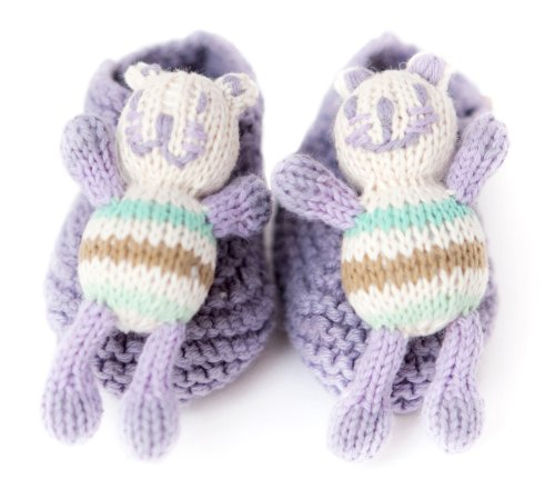 Finn + Emma Organic Rattle Booties, Cat, 0-6 Months (Discontinued by Manufacturer)