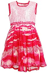 Euphoria Girls' A-line Frock (308F_2-3 Years, Pink, 2-3 Years)