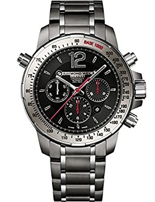 Raymond Weil Nabucco Automatic Chronograph Black Dial Stainless Steel Mens Watch 7850-TI-05207