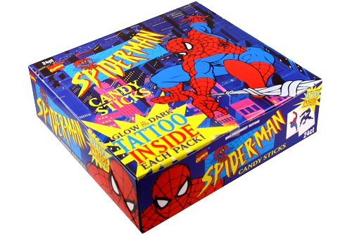 Low Prices for Candy Cigarettes In stock! » Marvel Spider-Man Candy Sticks