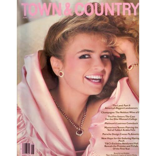 Town & Country June 1983 (Sophie de Suarez d'Aulan cover): Town