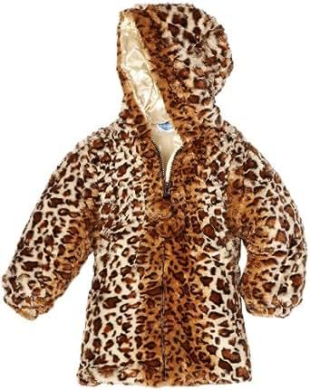 Amazon.com: Bon bebe Little Girls' Faux Fur Leopard Print Jacket