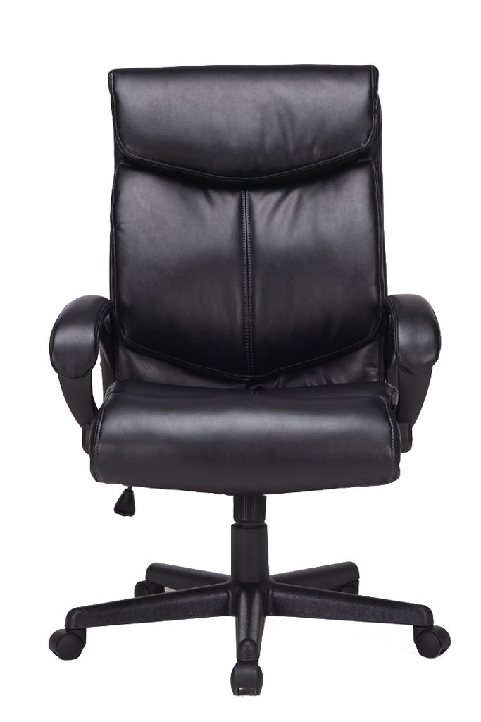 VIVA OFFICE Deluxe High Back Bonded Leather Chair, Thick Padded Executive Chair with Adjustable Seat Height-Viva06051A