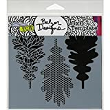 Crafters Workshop Template, 6 by 6-Inch, Pattern Leaves