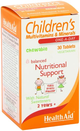 HealthAid Children's MultiVitamins and Minerals – 30 Chewable Tablets Rs.561 – Amazon