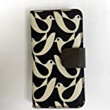 Orla Kiely Rotating Folio Case for iPhone 5 & iPhone 5S - Birdwatch Cream & Navy