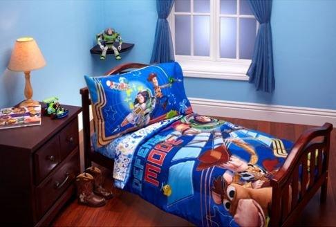 Imagen de Disney Toy Story Defensa modo 4-Piece Set Ropa de cama para niños pequeños