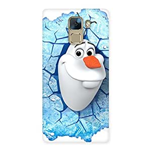 Cute Ola Multicolor Back Case Cover for Huawei Honor 7