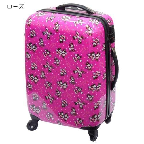 ミッキー&ミニー《マッチドット》20インチキャリーバッグ(1~3泊用スーツケース) ディズニー【ローズ】
