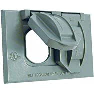 Hubbell 5942-1 Do it Weatherproof Electrical Cover-GRAY OUTDOR OUTLET COVER