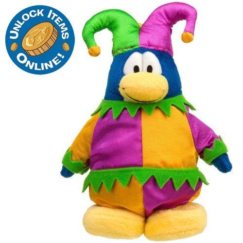 Disney Club Penguin 6'' Limited Edition Penguin Plush -- Court Jester (Semi-Rare Chase) - 1