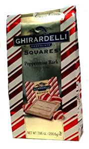 Ghirardelli Peppermint Bark Squares Stand up Bag