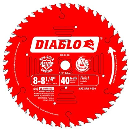 Find a Freud D0840X Diablo 8-1/4-Inch 40 Tooth ATB Finishing Saw Blade with 5/8-Inch Arbor