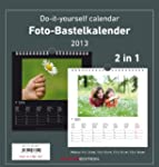 Foto-Bastelkalender 2 in 1 schwarz/we...