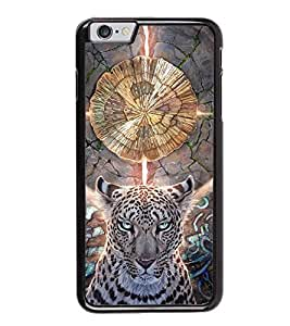 Fuson Premium 2D Back Case Cover Ferocious Leapord With Multi Background Degined For Apple iPhone 6S