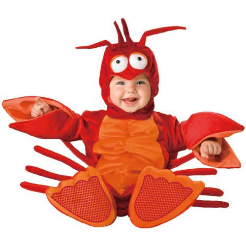 Incharacter Unisex-Baby Newborn Lobster Costume, Red/Orange, Small (6-12 Months) front-961306