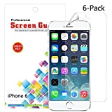 IDACA 6 pi�ces film Protection �cran LCD Clear pour Apple iPhone 6 4.7 inch
