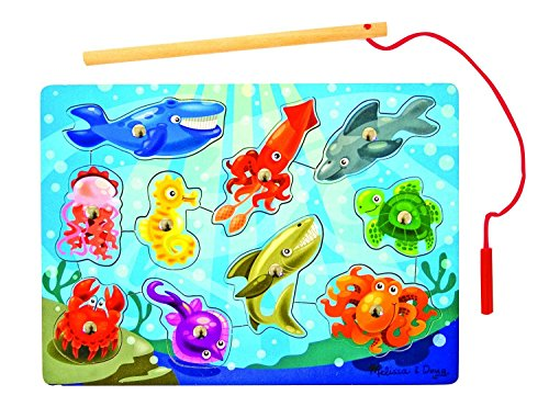 Melissa & Doug Deluxe 10-Piece Magnetic Fishing Game - 1