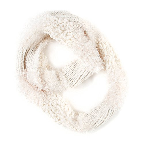 Claire'S Accessories Girls Ivory Multi-Yarn Infinity Scarf