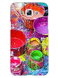 Colour Splash - Artist At Heart - Hard Back Case Cover for Samsung E7 - Superior Matte Finish - HD Printed Cases and Covers