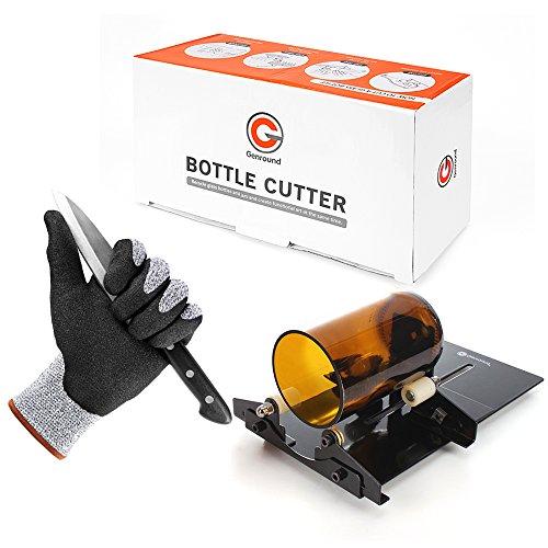 Glass Bottle Cutter Etcher Cut Resistant Gloves Kit,