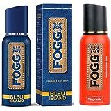 FOGG BLEU ISLAND FRAGRANCE 120ml + FOGG MAGNETIC FRAGRANCE BODY SPRAY 120ml