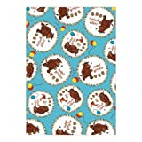 The Gruffalo Blue Giftwrap/Wrapping Paper - 2 Sheets & 2 Tags