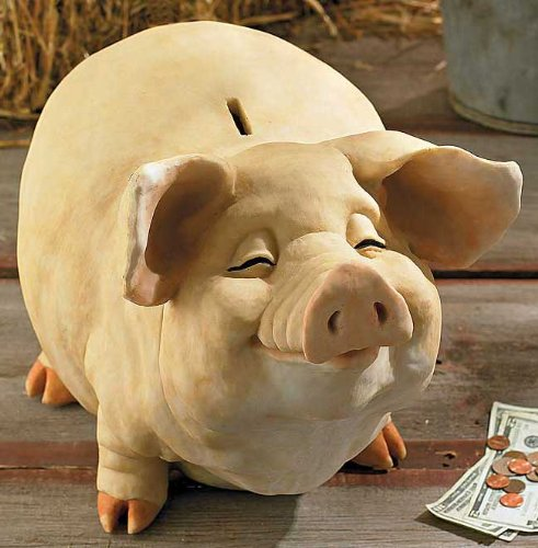 Pettycoat Medium Coin Piggy Bank - 1