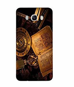 Samsung Galaxy J7 2016 Vintage Printed Yellow Hard Silicon Back Cover By Snazzy