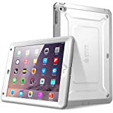 iPad Air 2 Hülle, SUPCASE® [Heavy Duty] Apple iPad Air 2 Schutzhülle [2. Generation] Modell 2014 [Unicorn Beetle PRO Series] Full-body Rugged Hybrid Protective Case Cover mit integriertem Bildschirmschütz - Dual Layer Design + Anti-Schock Schutzleisten (Weiß/Grau)