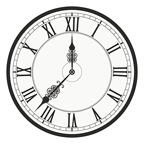 Classic Roman Numeral Analog Watch Face Clock Vinyl Decal Sticker (8