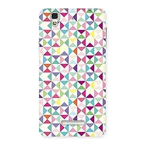 Premium Trangel Color Print Back Case Cover for YU Yureka Plus