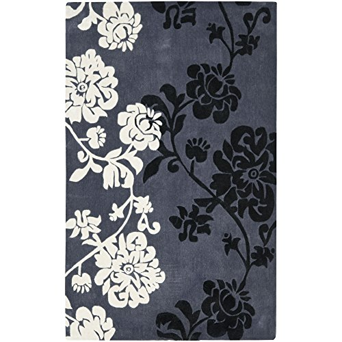 Safavieh Modern Art Collection MDA623A Handmade Dark Grey and Multi Polyester Area Rug, 9 feet by 12 feet (9' x 12')