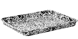 Enamelware Jelly Roll Tray - Black Marble