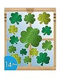 St Patricks Day Glitter Vinyl Window Cling Decorations 14 pkg