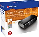 Verbatim 47672 2TB Store n Save USB 3.0 3.5 Inch External Hard Drive - Black