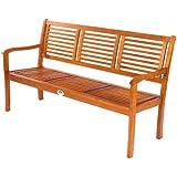 Ultranatura Gartenbank 3-Sitzer, Canberra Serie - Edles & Hochwertiges Eukalyptusholz FSC zertifiziert - 158 cm x 61,5 cm x 89 cm